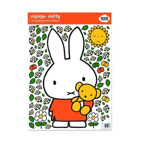 Kek Amsterdam Wall Sticker Miffy Teddy bunte vinyl M 42x59cm