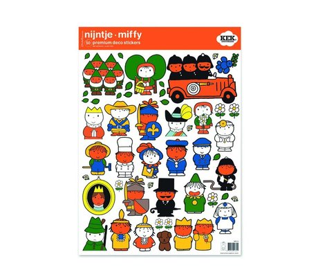Kek Amsterdam Wall Sticker Miffy tal farverige vinyl M 42x59cm