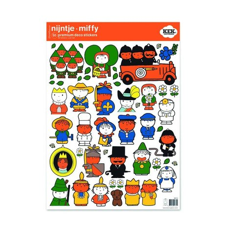 Kek Amsterdam Duvar Sticker Miffy renkli vinil M 42x59cm rakamlar