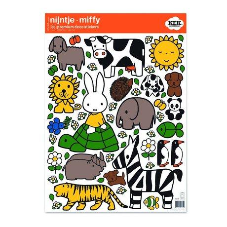 Kek Amsterdam Wall Sticker amoureux des animaux Miffy multicouleur de 42x59cm M vinyle