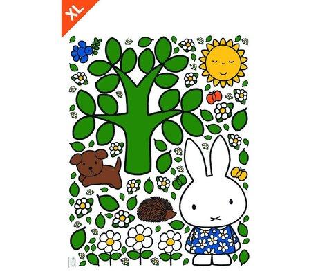 Kek Amsterdam Etiqueta de la pared Miffy grande multicolor árbol de vinilo XL 95x120cm