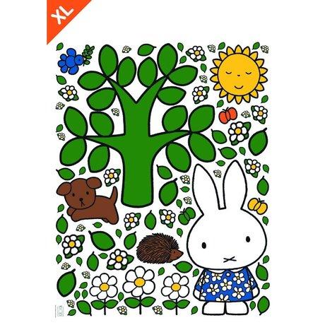 Kek Amsterdam Duvar Sticker Miffy büyük ağaç çok renkli vinil XL 95x120cm