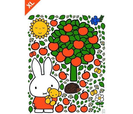 Kek Amsterdam Wandaufkleber Miffy Apfel bunte Vinylfolie XL 95x120cm