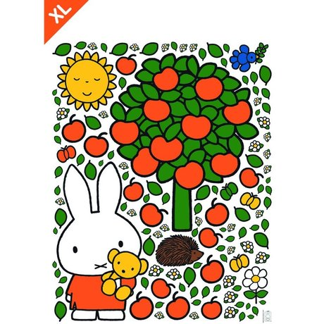 Kek Amsterdam Wall Sticker Miffy mela vinile colorato XL 95x120cm
