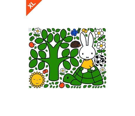 Kek Amsterdam Wall Sticker Miffy på en skildpadde farverig vinyl XL 95x120cm