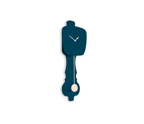 KLOQ benzin blå Ur lille palisander 59x20,4x6cm