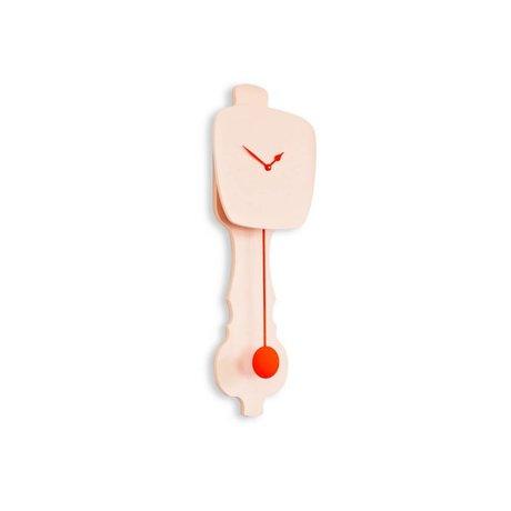 KLOQ El reloj rosado Pequeño 59x20,4x6cm madera de color naranja