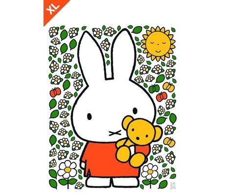 Kek Amsterdam Miffy etiqueta de la pared del oso de peluche multicolor de vinilo XL 94x120cm