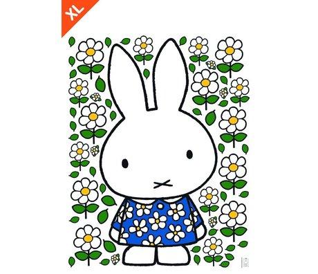Kek Amsterdam Wall Sticker Miffy robe fleur multicouleur vinyle XL 94x120cm