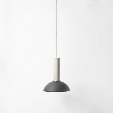 Ferm Living Håber pendel høj sort lys grå metal