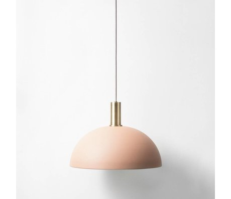 Ferm Living Suspension lampe Dome lav messing rødguld metal