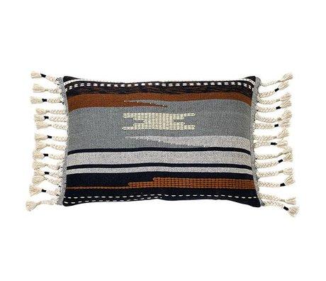 HK-living Cuscino Aztec cotone multicolore 50x70cm