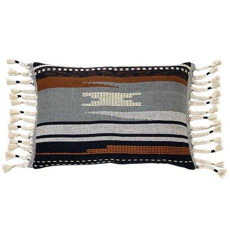 HK-living Aztec Cushion Multicolour cotton 50x70cm