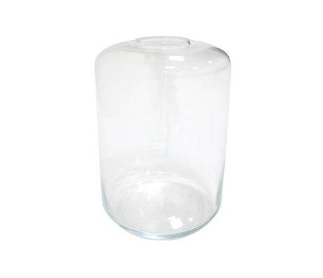 HK-living Vase Mini haven 28x28x44cm gennemsigtigt glas