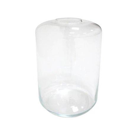 HK-living Vase Minigarten transparent glass 28x28x44cm