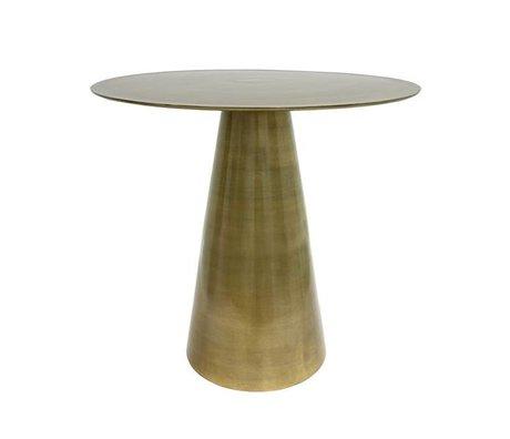 HK-living Side table brass brass 49x49x45cm