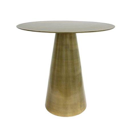 HK-living laiton Table d'appoint en laiton 49x49x45cm