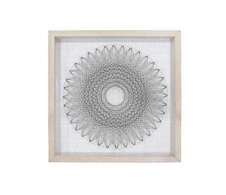 HK-living Art Frame Draht Kreis 50x6x50cm