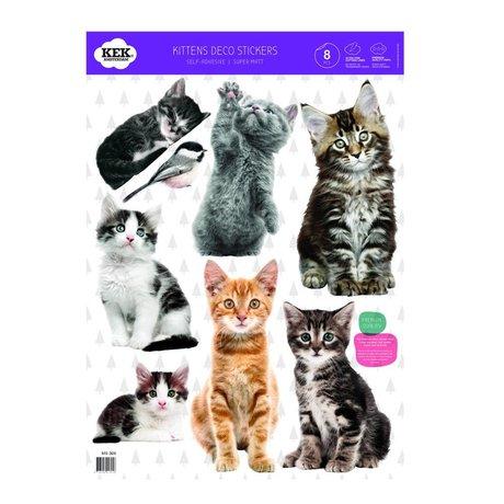 Kek Amsterdam Wall Sticker Set gattino multicolore vinile 42x59cm