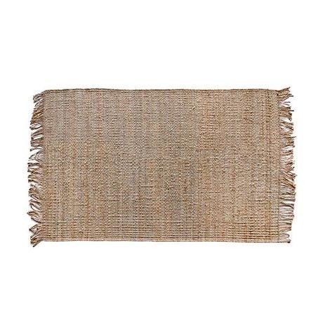 HK-living Tappeto naturale tela 120x180cm marrone