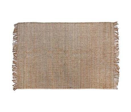 HK-living Tapis toile de jute brun naturel 200x300cm