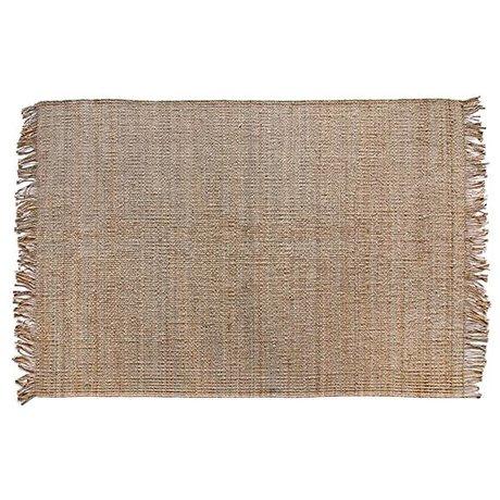 HK-living Teppich natürlichen braunen Sackleinen 200x300cm