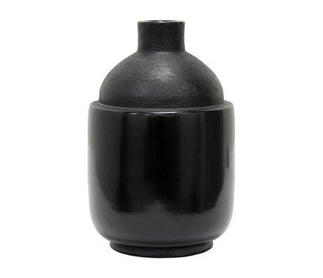 HK-living Vase M Chulucanas sort keramik 16,5x16,5x26cm