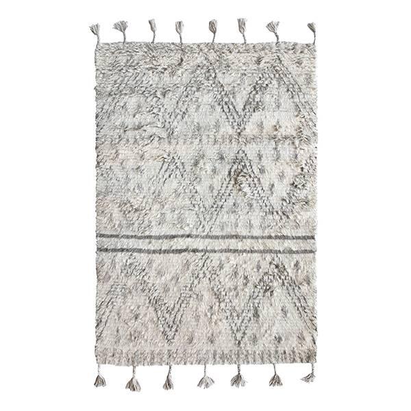 hk living berber teppich handgewebt wolle grau wei 120x180cm. Black Bedroom Furniture Sets. Home Design Ideas