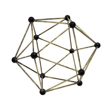 HK-living Molekylær ornament Messing Messing 25x25x25cm