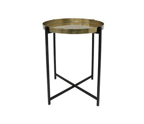 HK-living Table d'appoint M Laiton Laiton 40x40x55cm noir