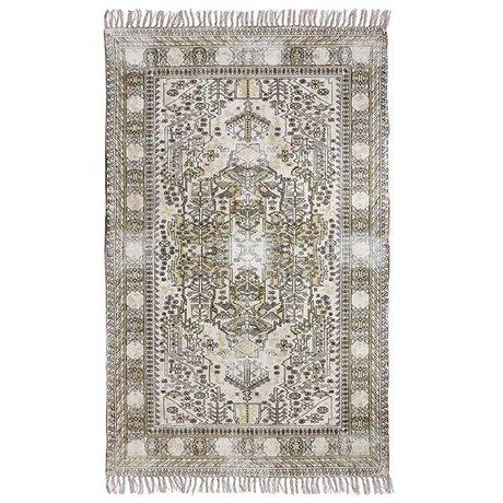 HK-living Carpet especially over-colored multicolour cotton 120x180cm