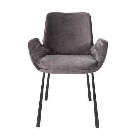 Zuiver Yemek sandalye Brit koyu polyester 59x62x79cm