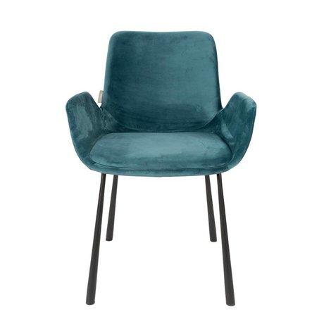 Zuiver chaise à manger essence Brit polyester bleu 59x62x79cm