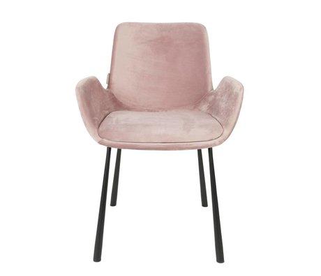 Zuiver Esszimmerstuhl Brit rosa Polyester 59x62x79cm