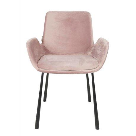 Zuiver chaise à manger Brit rosa polyester 59x62x79cm