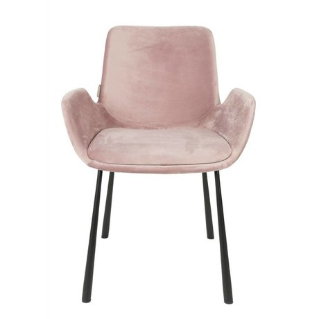 Zuiver Yemek sandalyesi Brit rosa polyester 59x62x79cm