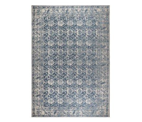 Zuiver Halı Malva mavi pamuklu 300x200cm denim