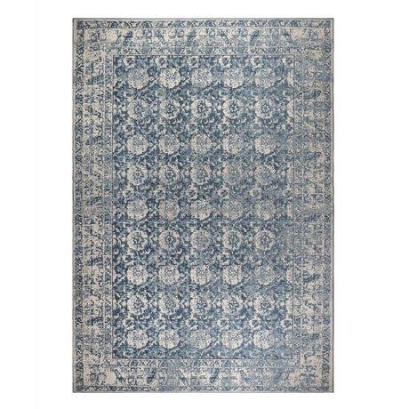 Zuiver Tapis Malva denim bleu coton 300x200cm