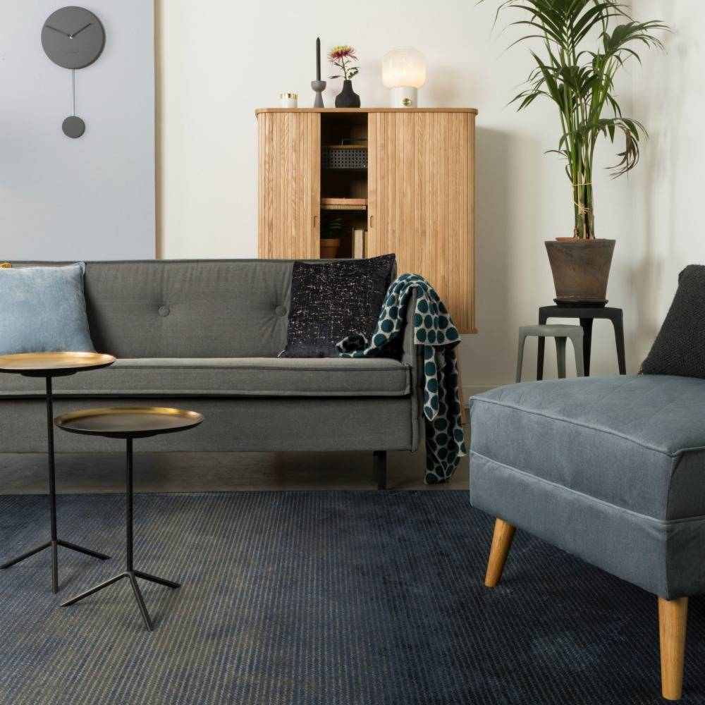 Zuiver 240x170cm Textile Tapis Bleu Obi Lefliving Com