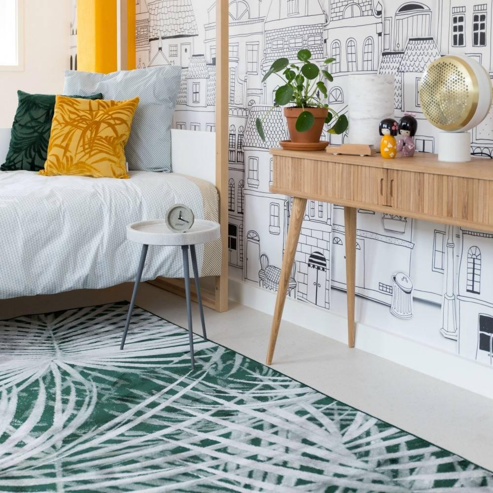 Zuiver Tapis Palm à partir du jour 300x200cm textile vert ...