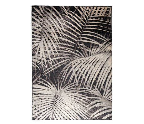 Zuiver Tæppe Palm natten sort tekstil 300x200cm
