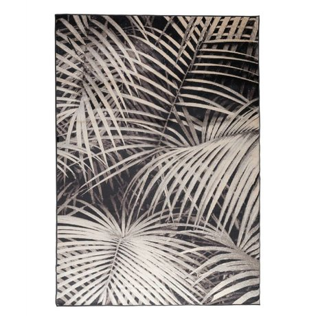 Zuiver Carpet Palm in the night black textile 300x200cm