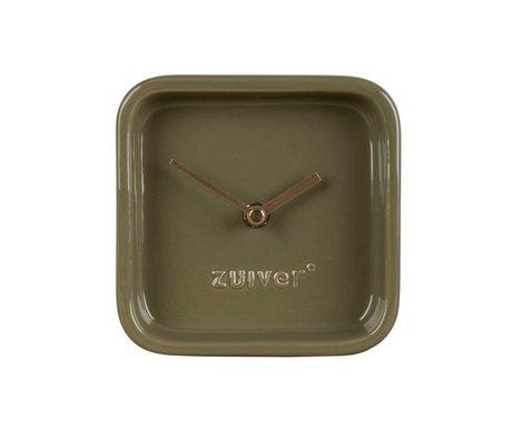 Zuiver Reloj de cerámica verde linda 13,5x6x13,5cm