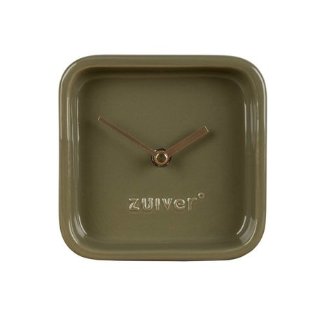 Zuiver Horloge vert mignon 13,5x6x13,5cm céramique