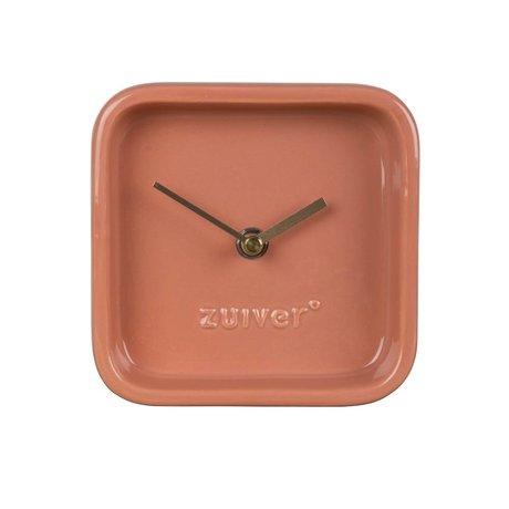 Zuiver Reloj de cerámica rosado lindo 13,5x6x13,5cm