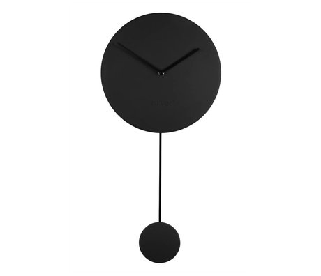 Zuiver Duvar saati Minimal siyah plastik 30x4x63cm