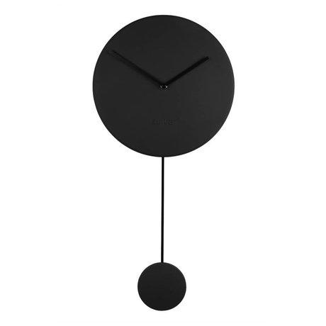 Zuiver Los relojes de pared mínimo 30x4x63cm plástico negro