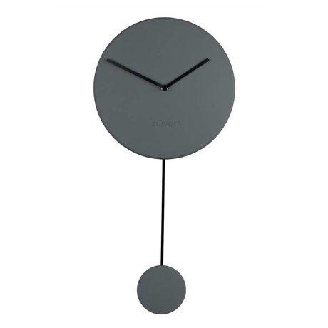 Zuiver Reloj de pared mínimo 30x4x63cm plástico gris
