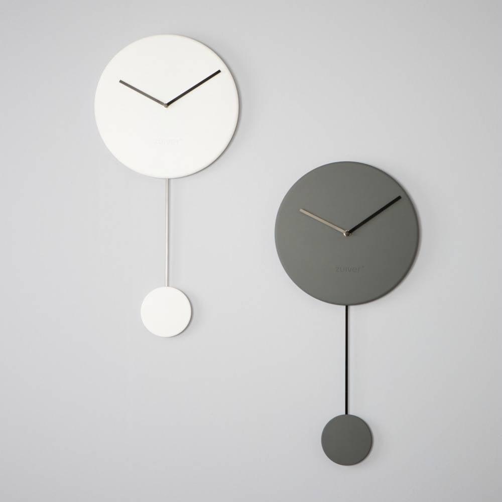 Zuiver Reloj de pared mínimo 30x4x63cm plástico gris - lefliving.com