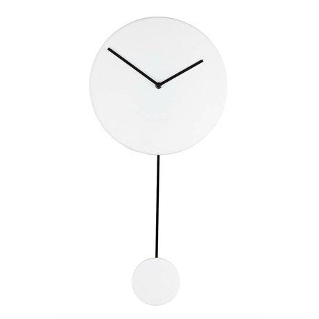 Zuiver Horloge minimum 30x4x63cm en plastique blanc